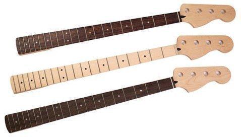 грифы для бас-гитар с накладками из разных пород древесины