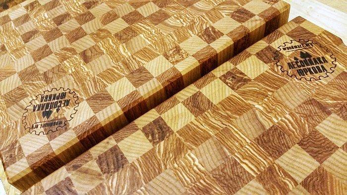 торцевые разделочные доски из древесины ясеня