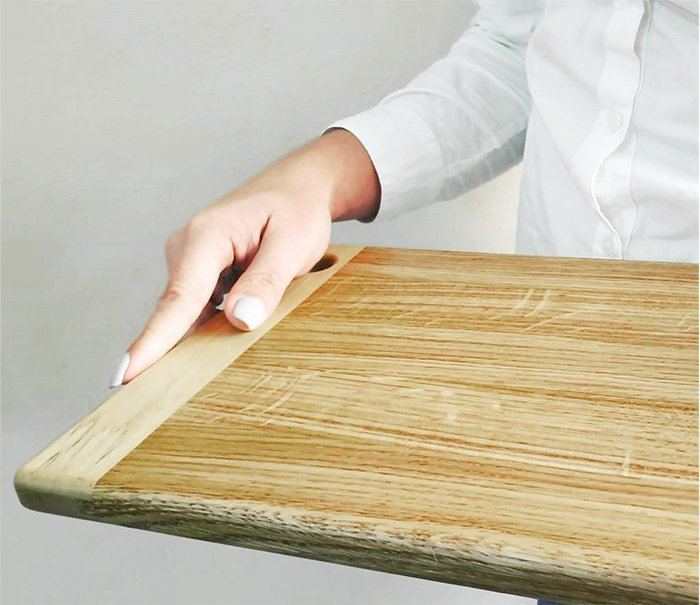 сервировочная разделочная доска из древесины дуба