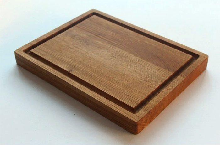 деревянная сервировочная доска под стейки из древесины дуба