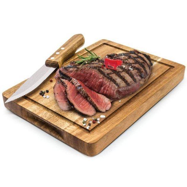 деревянная доска для подачи стейков