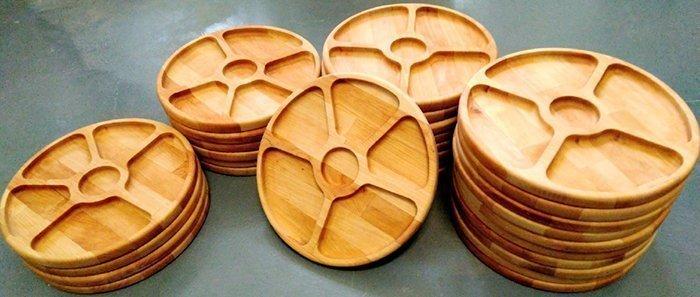 менажницы из натуральной древесины