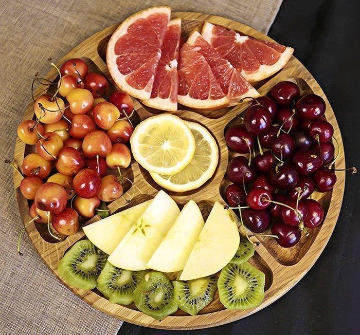 деревянная менажница под фрукты