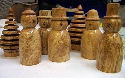 точеные игрушки из древесины
