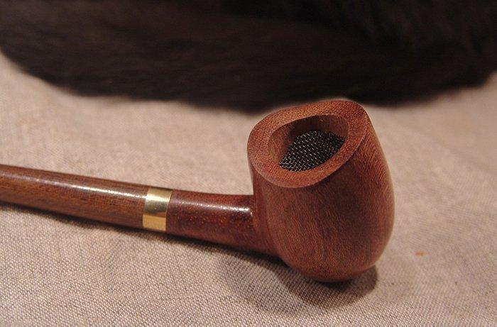 курительная трубка из древесины бубинго