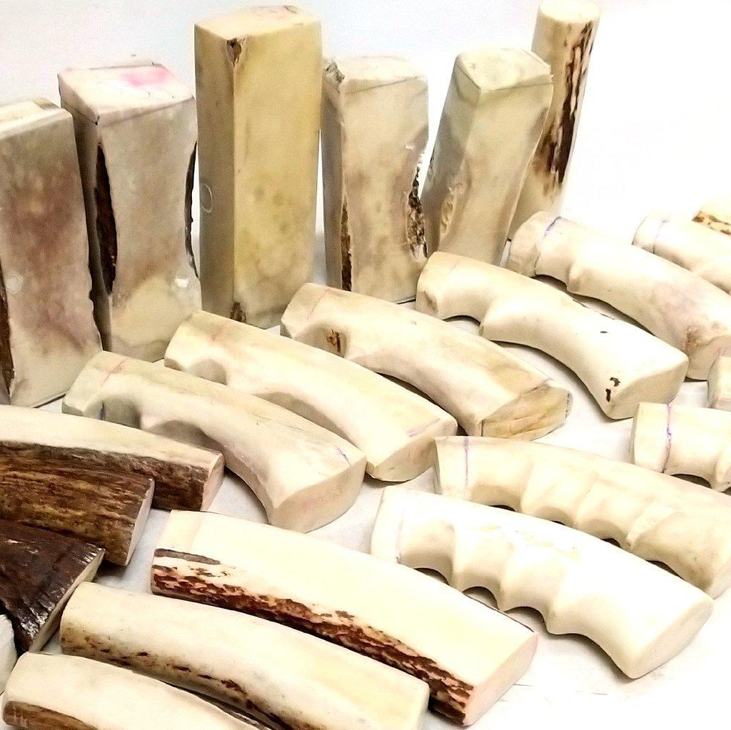 заготовки из кости и рога для рукоятей ножей