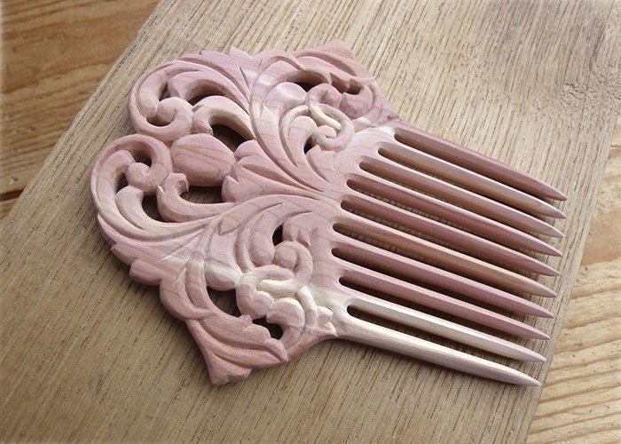 гребень для волос из древесины цедера