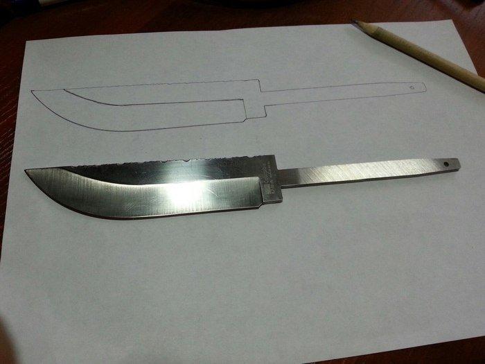 Чертеж клинка для ножа