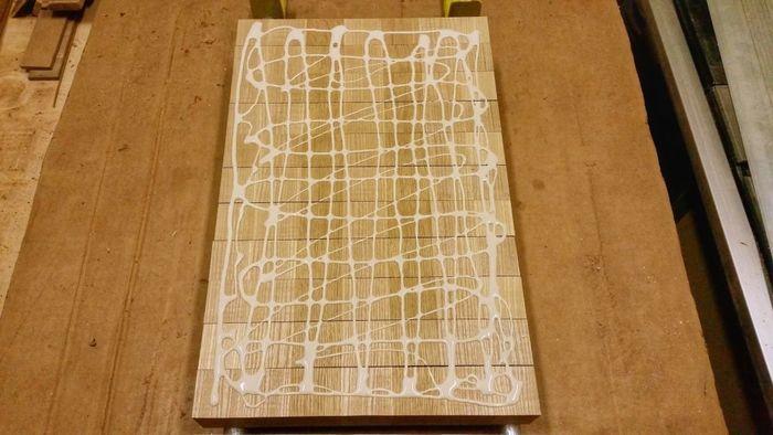 Склейка деталей торцевой разделочной доски