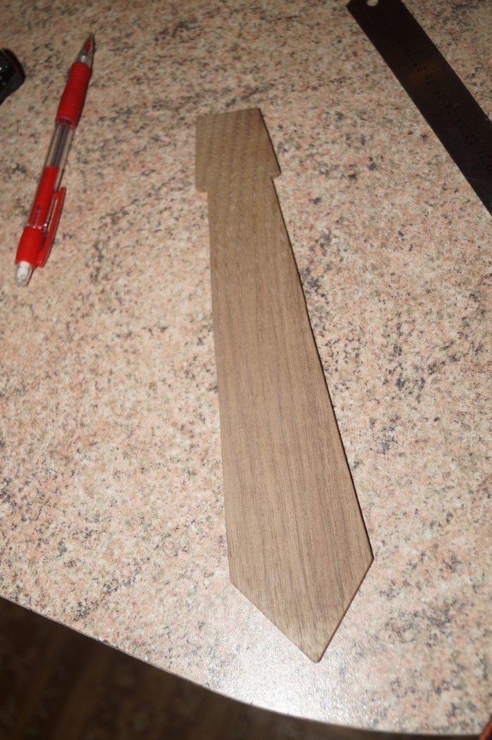 Заготовка деревянного галстука