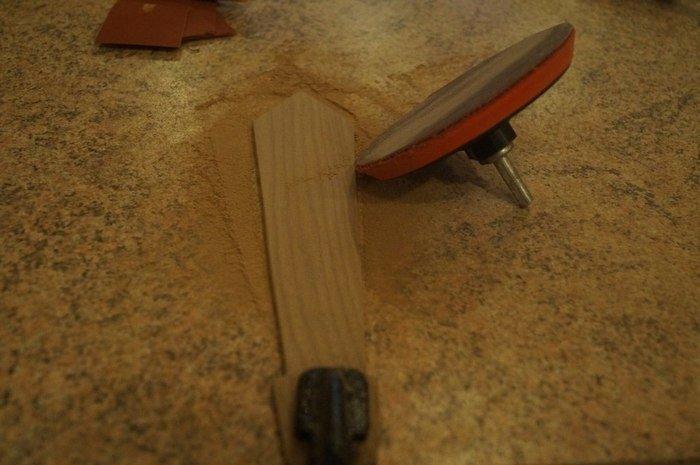 Шлифовка деревянного изделия