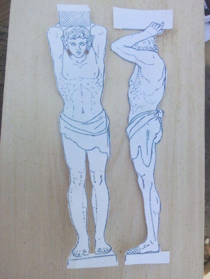 Эскиз для фигурки из дерева