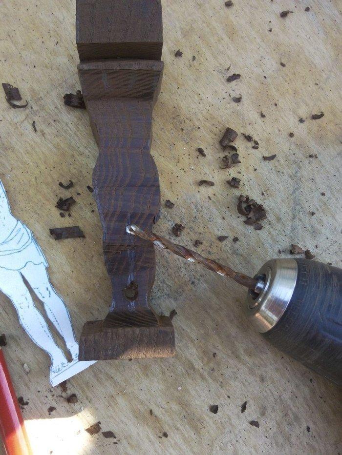 Сверление древесины термоясеня