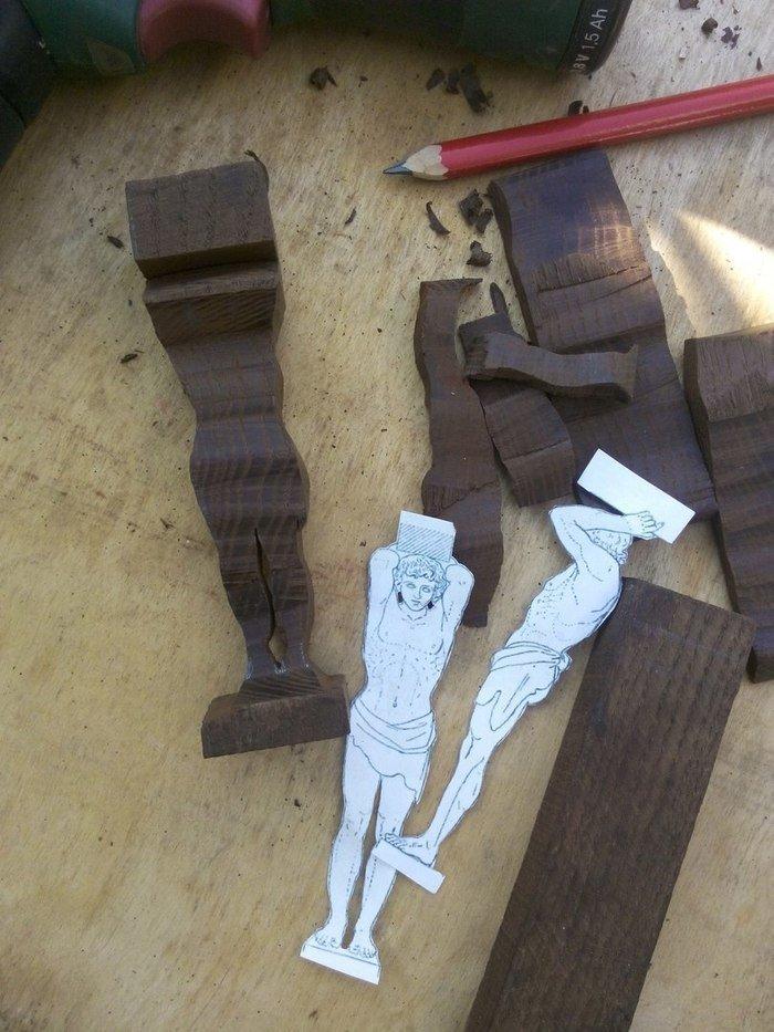Заготовка для резьбы из древесины термоясеня