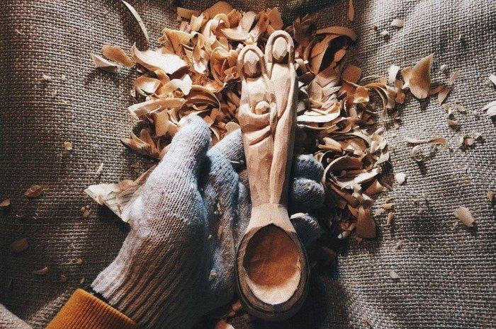 Создание черпала деревянной ложки