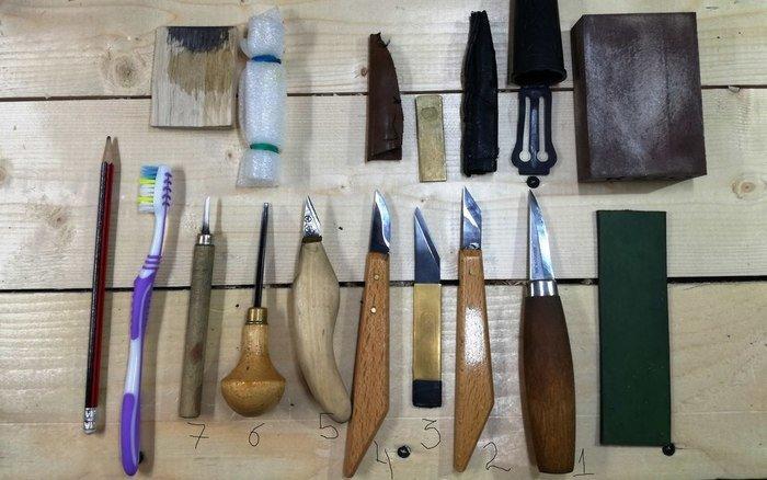 Набор инструментов для резьбы по дереву