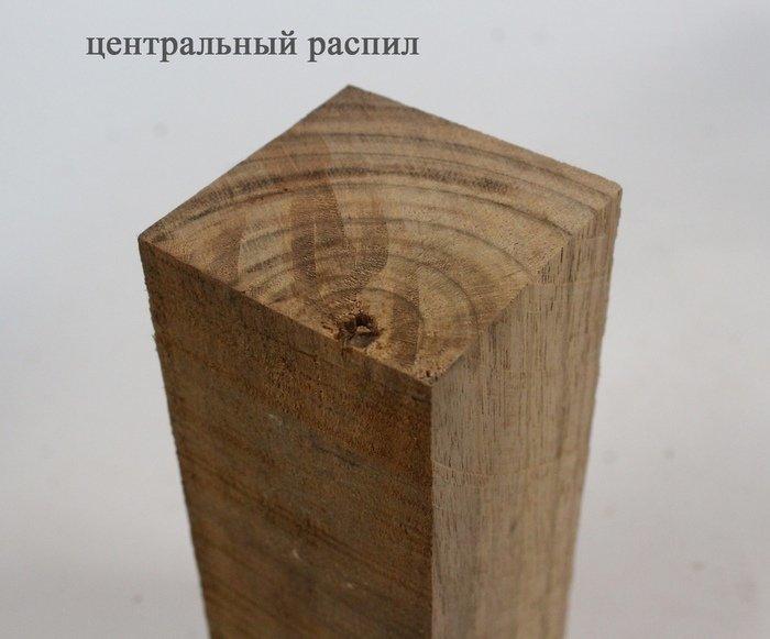 Центральный распил древесины