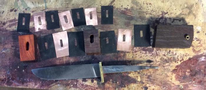 Элементы наборной рукояти ножа
