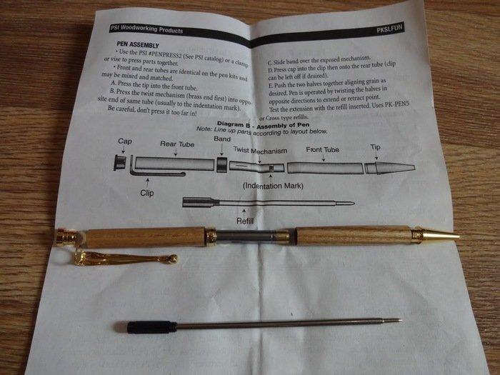 Сборка автоматической ручки по инструкции