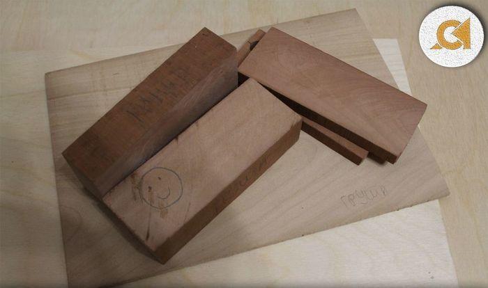 Заготовки из древесины груши в разных форматах