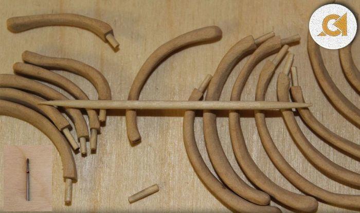 Ребра деревянного скелется кита