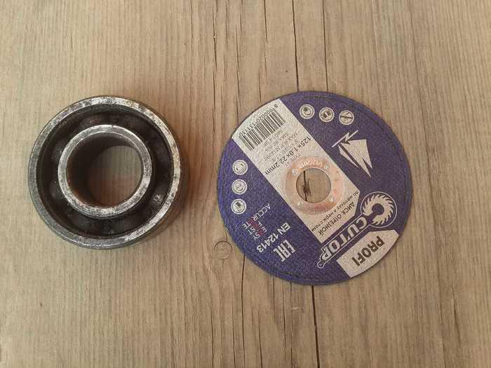 Отрезной диск и подшипник для изготовления клинка