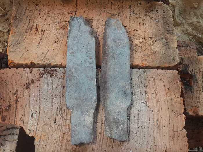 Остывшие металлические поковки