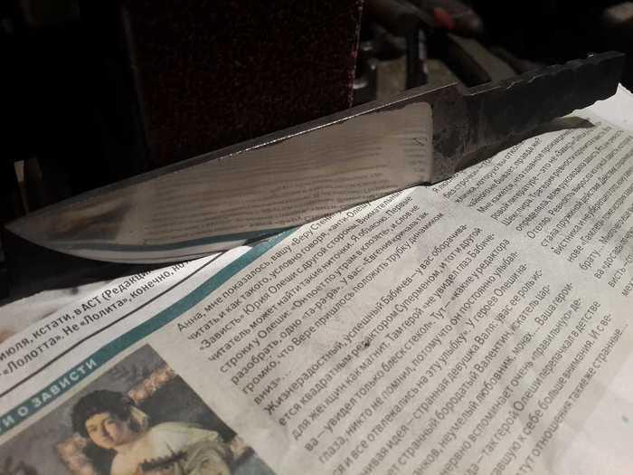 Готовый клинок для ножа