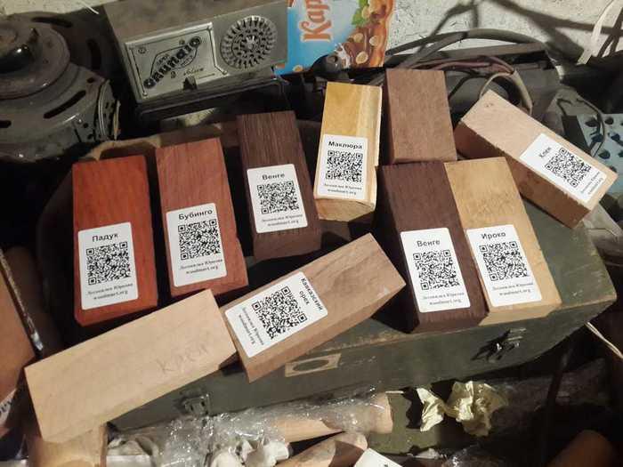 Набор деревянных заготовок под рукоять ножа