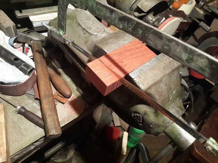 Процесс изготовления рукояти ножа