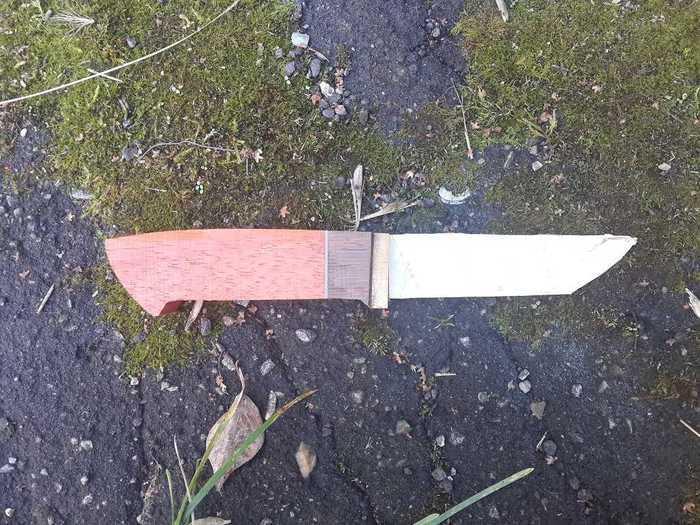 Обточка рукояти ножа