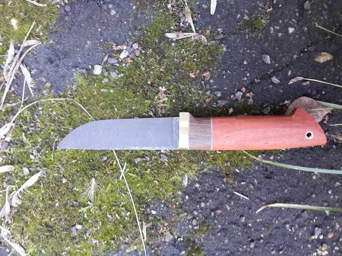 Придание плавных форм рукояти ножа