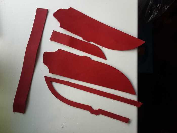 Кожаные детали для ножен