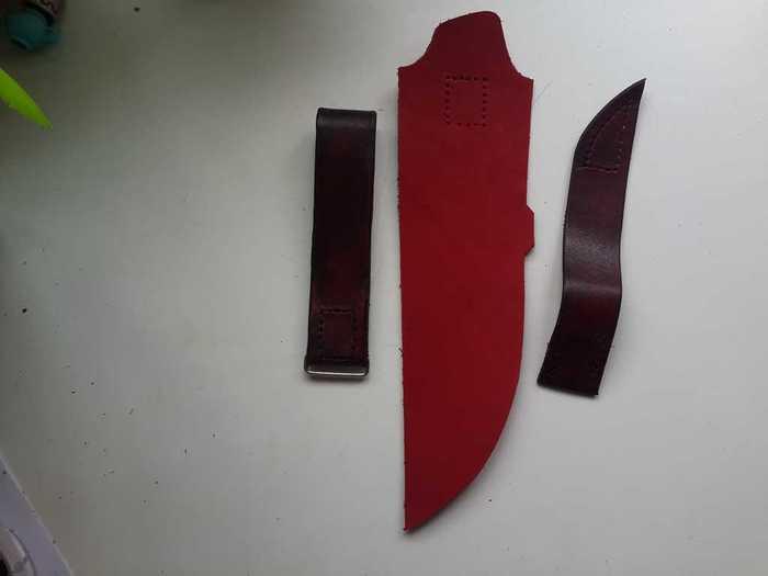 Детали для ножен из кожи
