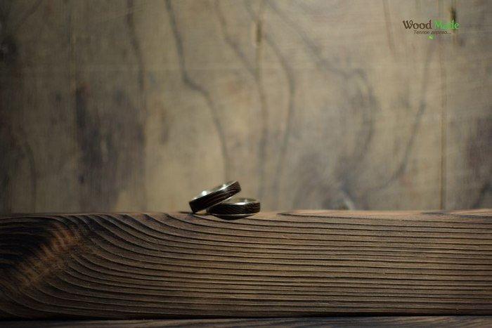 Готовые кольца из дерева из серебра