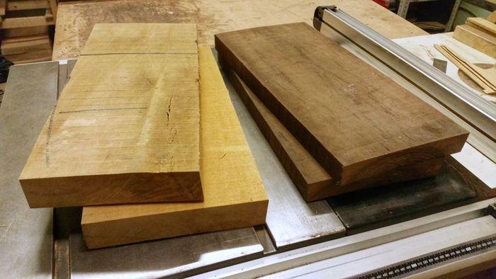 Деревянные заготовки для изготовления цельноламельного щита