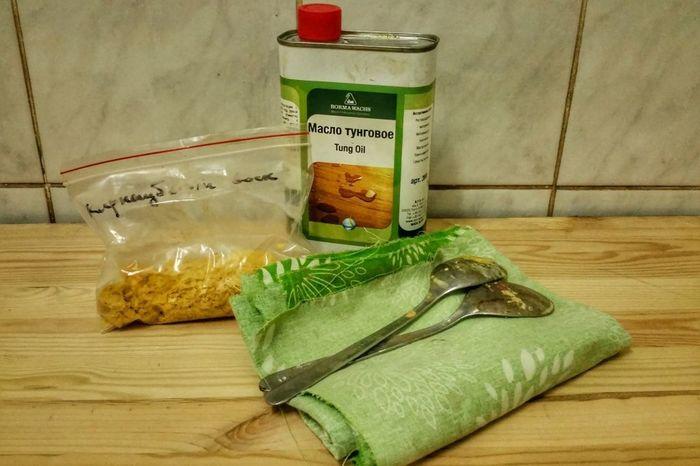 Тунговое масло и карнаубский воск