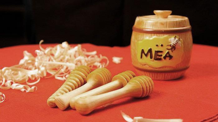 ложки веретено для меда из древесины кедра
