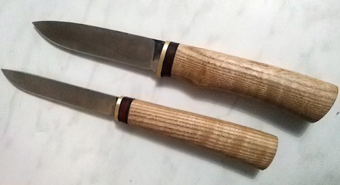 ножи с рукоятями из древесины ясеня
