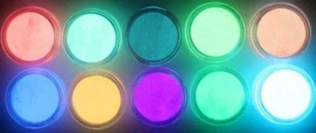 порошковые люминофоры для эпоксидной смолы разных цветов