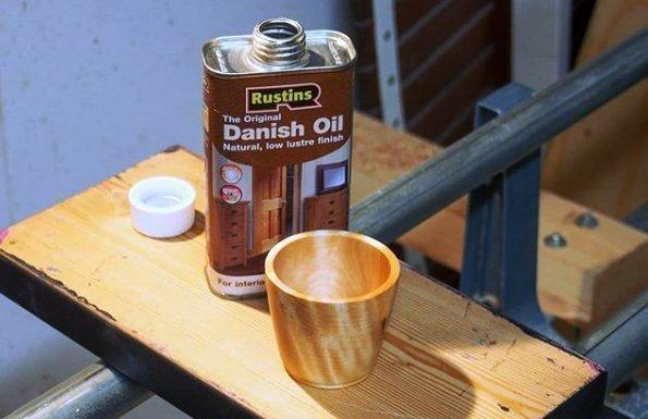 Чашка из древесины с покрытием Rustins Danish Oil