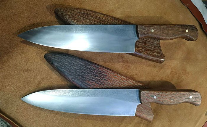 Ножи и ножны из древесины лайсвуда и сукупиры